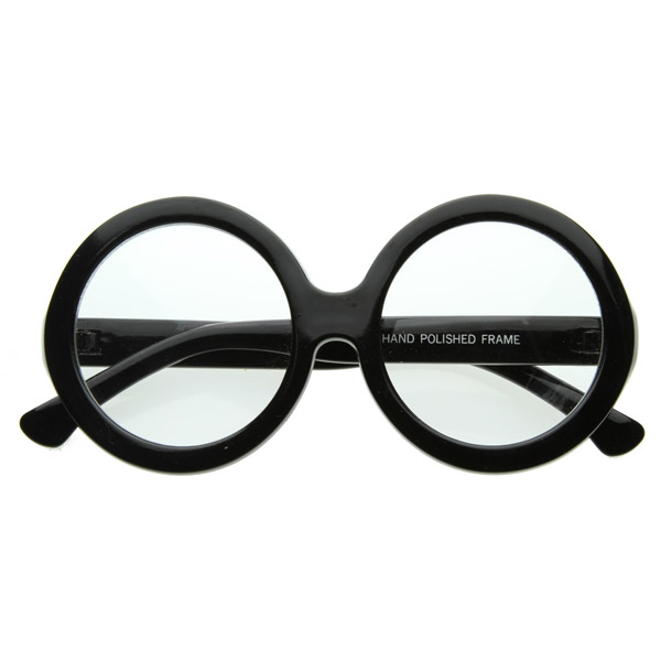 Large Round Oversized Bold Womens Fashion Clear Lens ...