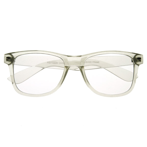 clear transparent clear frame lens wayfers style