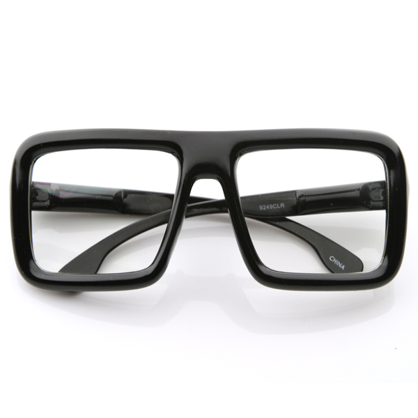 large retro nerd bold thick black nerd glasses frames