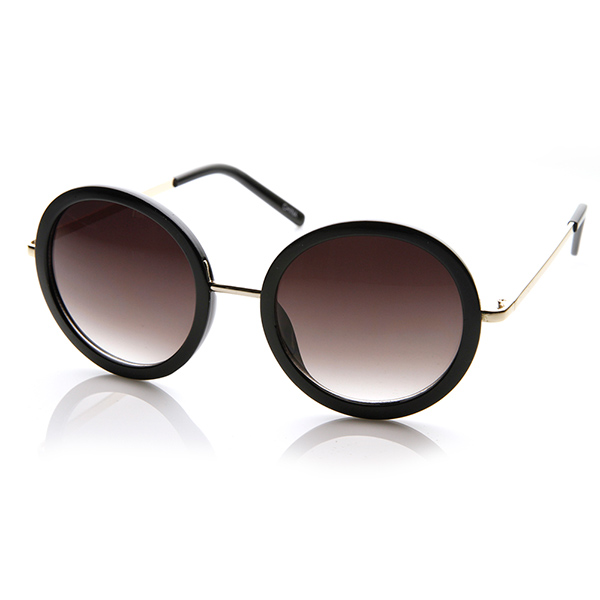 Oversized Gold Frame Sunglasses : Womens Round Oversized Circle Sunglasses w/ Metal Arms eBay