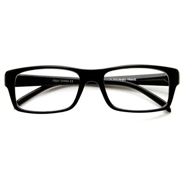 Black Frame Square Glasses : Modern Fashion Traditional Bold Thick Frame Clear Lens Eye ...