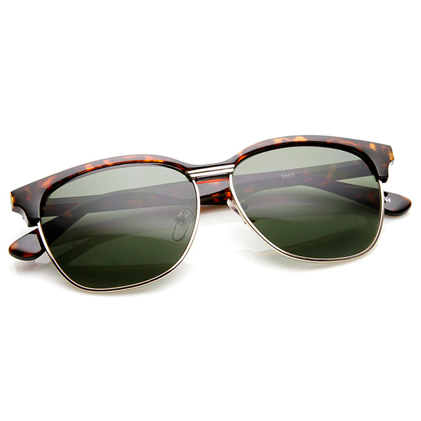 Wayfarer Glasses Half Frame : Modified Half Frame Semi Rimless Classic Wayfarer ...